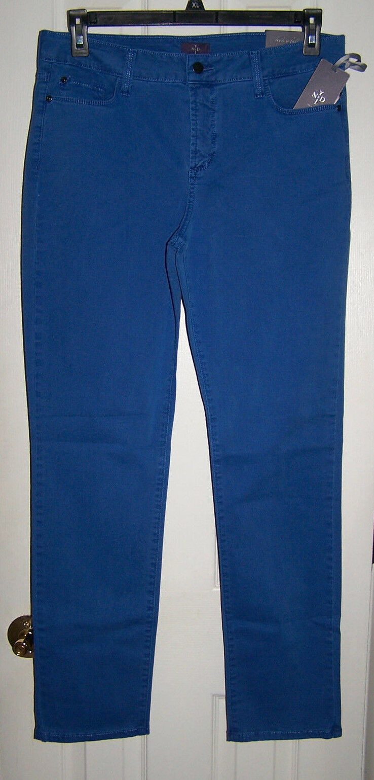 NOT YOUR DAUGHTERS JEANS NYDJ SKINNY LEG PRINCESS blueE SZ 12 NWT