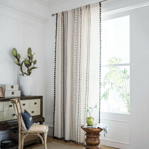 Modern Curtains Bohemian Style Window Screening Bedroom Office Decorations 1PC