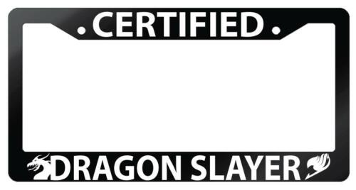 Glossy Black License Frame Certified Dragon Slayer Auto Accessory Fairy Tail
