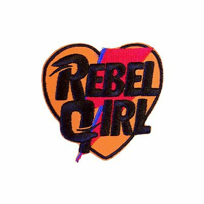 David Bowie Rebel Girl Iron On Patch Ziggy Stardust Applique//Transfer Sew