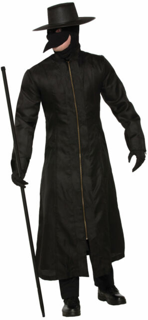 Buy Adult Mens Medieval Black Plague Doctor Costume Online Ebay