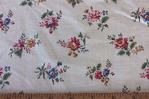 "Vintage Country French c1940s ""Grand Teint Romanex"" Cotton Fabric~Quilts,Dolls"