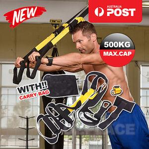 Suspension Trainer Straps Kit Home Training Crossfit Gym Yoga Workout Resistance