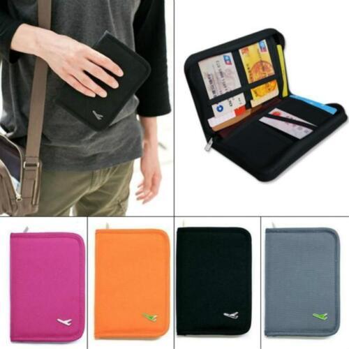 Travel Passport Card Holder Zipper Case Cover Wallet Purse Organizer DP