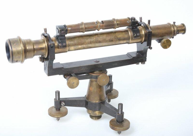 Surveying Level Ed Sprenger Berlin Germany vintage antique old brass