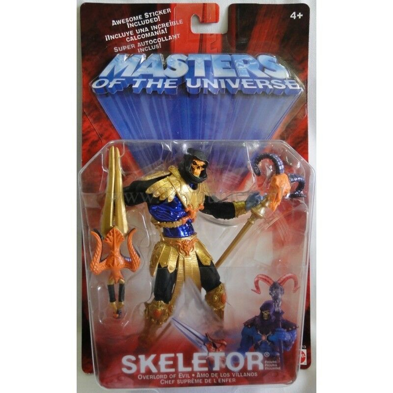 Skeletor oro (Repaint) MOC ✠ Motuman Masters of the Universe He-man MOTU