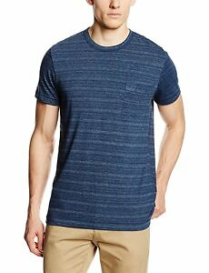 camiseta camiseta Connection French Stripe moda azul algodón de Slim Fit de Summer zgzq1Cwt