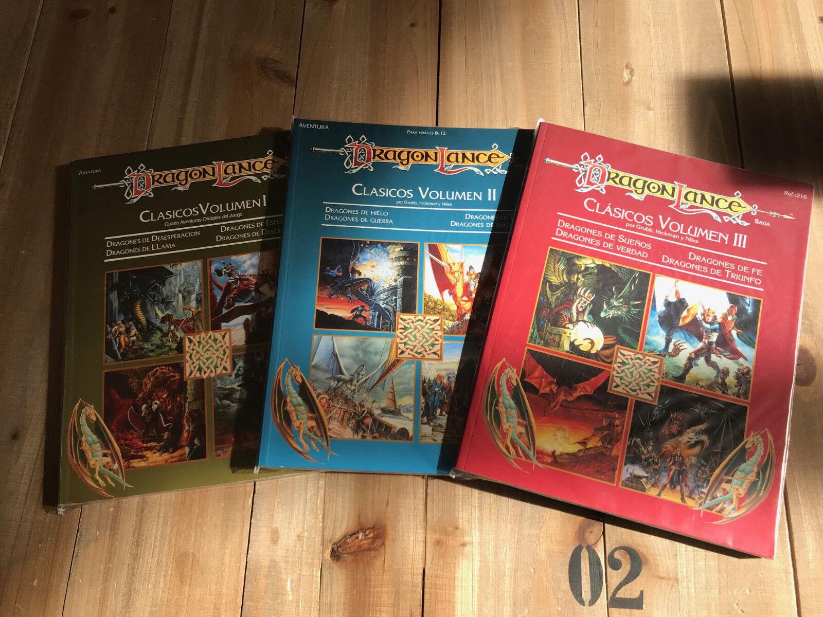 Advanced Dungeons & Dragons DRAGONLANCE - CLASICOS TRILOGIA TRILOGIA TRILOGIA - juego rol - ZINCO 80ead2
