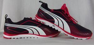 New Women S Puma Faas Lite Spikeless Golf Shoes Eco Ortholite Black Pink Size 10 Ebay