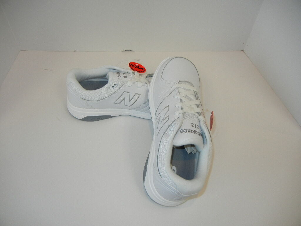 New Balance Women's WW813 Lace Walking Shoe White, Black and Gray New in Box