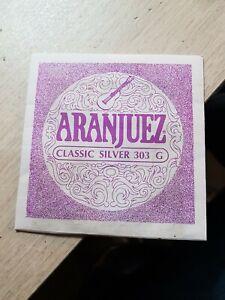 2 Gitarren-Saiten ARANJUEZ Classic Silver 303 G Sol Nylon Guitar String