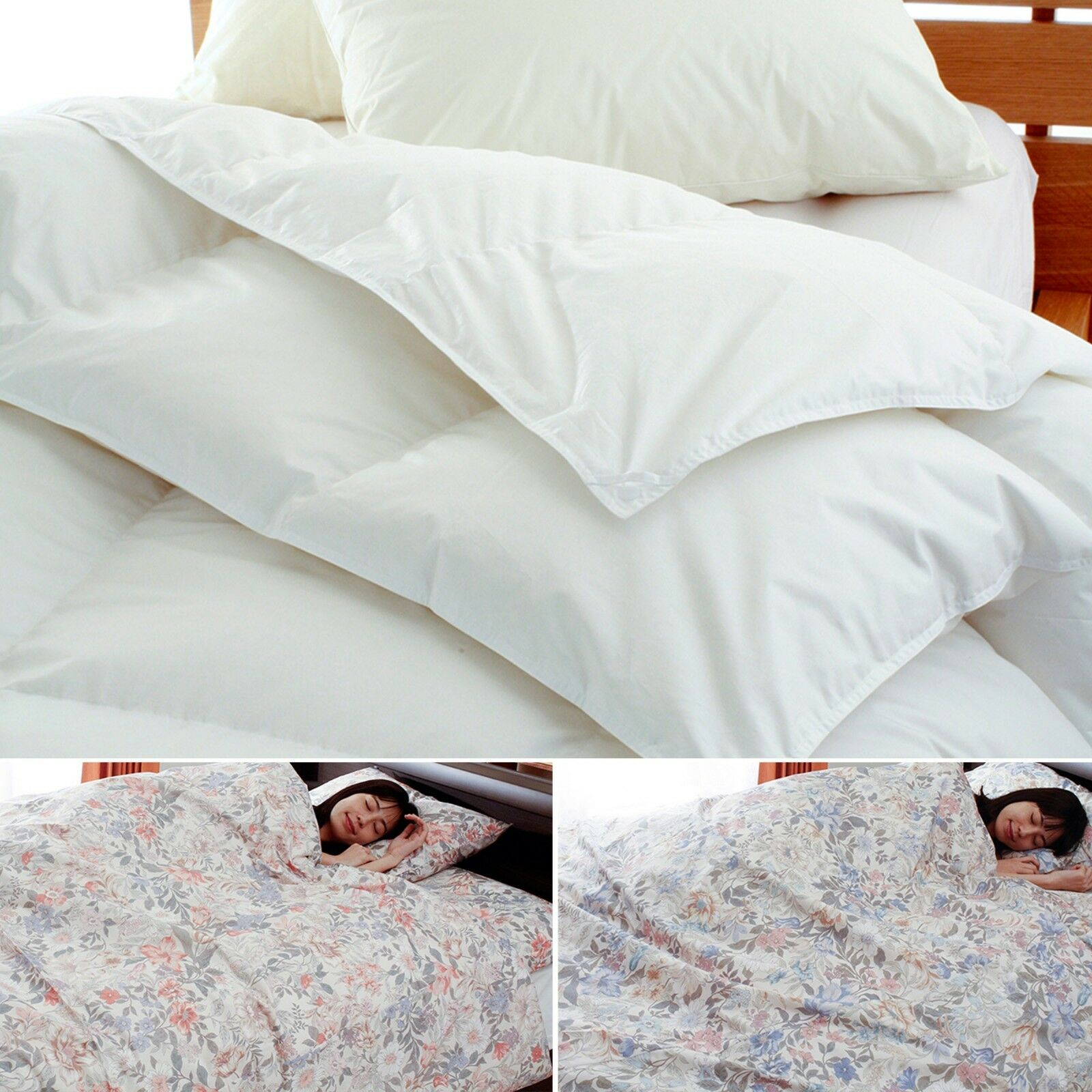 Japan,2 piece down-filled comforter,duvet  DUVET BASIC , with RUNE floral cover
