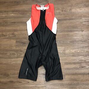 Nike-Womens-Triathlon-Unisuit-Wetsuit-Medium-M-Zipper-Black-Cycling-Bib-Shorts