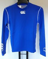 Leinster Rugby Blue Long Sleeved Cold Baselayer Size Junior Medium Brand