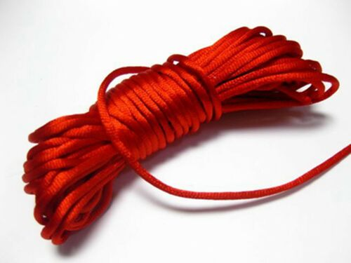 10 M Chinois Satin Silk knot Cord 3 mm rattail fil corde collier Craft