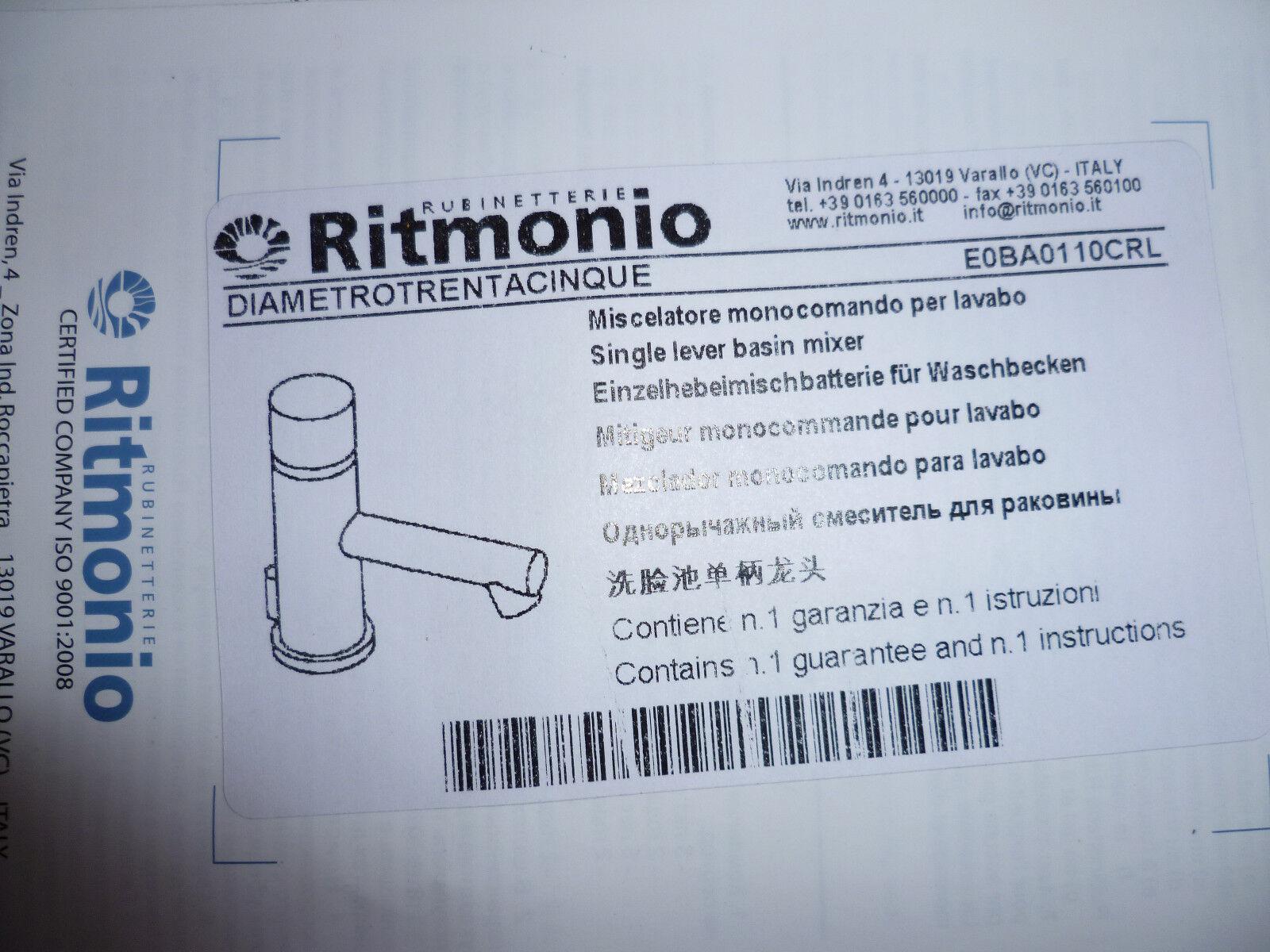 RITMONIO DIAMETROTRENTACINQUE WASCHTISCHARMATUR CHROM EOBA0110CRL