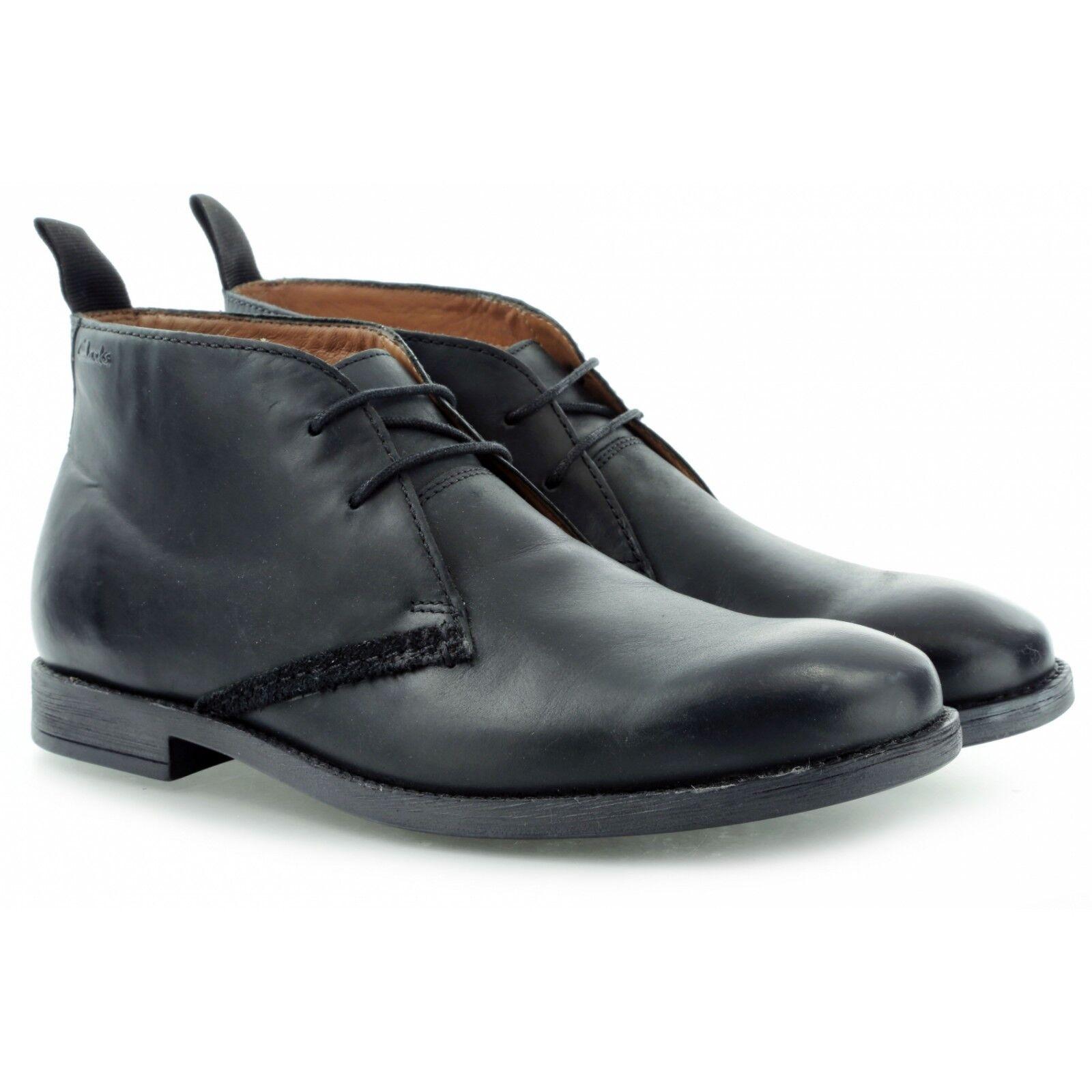 Clarks Hombre  Novato Medio Negro Lea, ve Vintage se ve Lea,  Reino Unido 6,7,9,10 G 8ce2bc