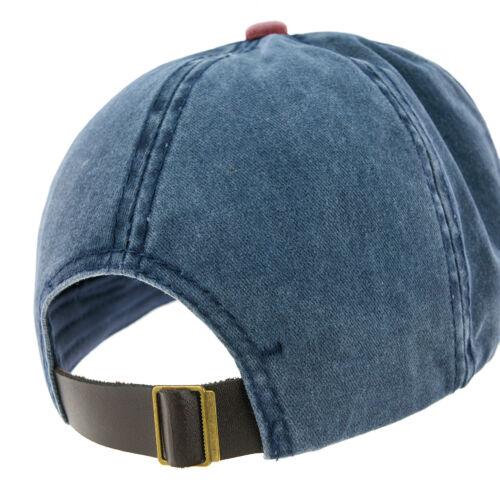 Baseball Cap Cottton Adjustable Strap Captain Yachting Summer Hat Navy Red