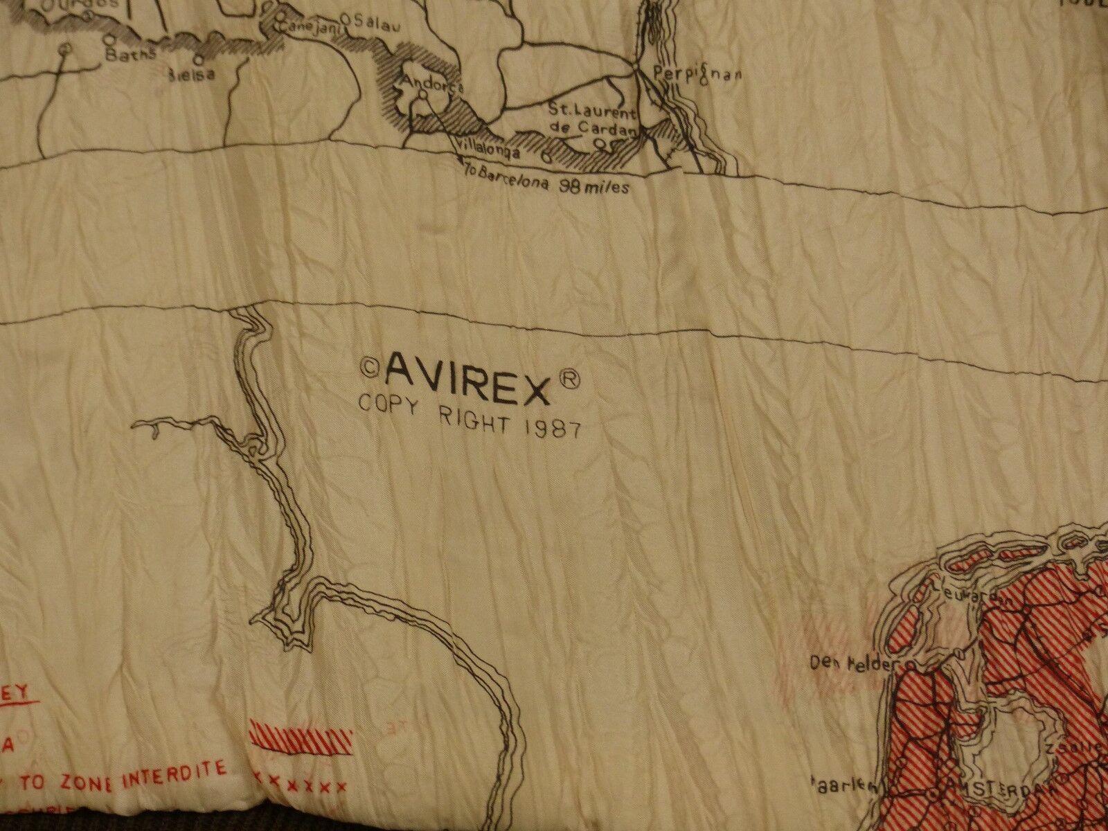 * AVIREX vintage a2 Pilotes Veste en All Cuir * 1944 All en Be seeing you * USA * Gr: XL * RARE 883769