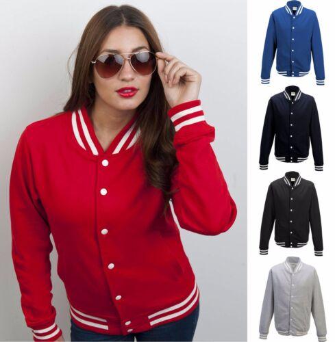 AWDis Ladies College Varsity Baseball Letterman University Jacket Colour Choices