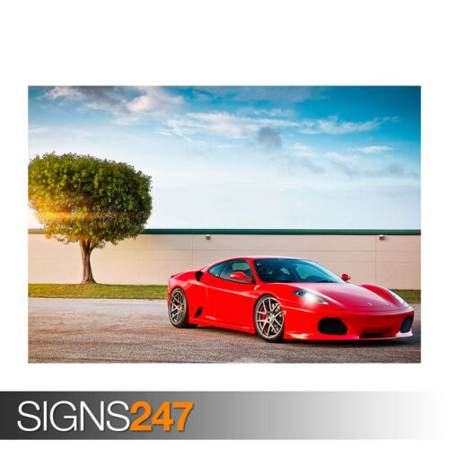 FERRARI F430 (0254) Car Poster - Photo Picture Poster Print Art A0 A1 A2 A3 A4