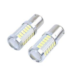 2x-12V-BA15S-P21W-1156-LED-Car-Backup-Reverse-Light-White-Bulb-33-SMD-5630-W3T5