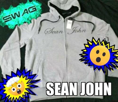 SEAN JOHN XL Gray Hoodie MSRP $69.50 Men/'s Winter Sweaters T-Shirts Pants /& More