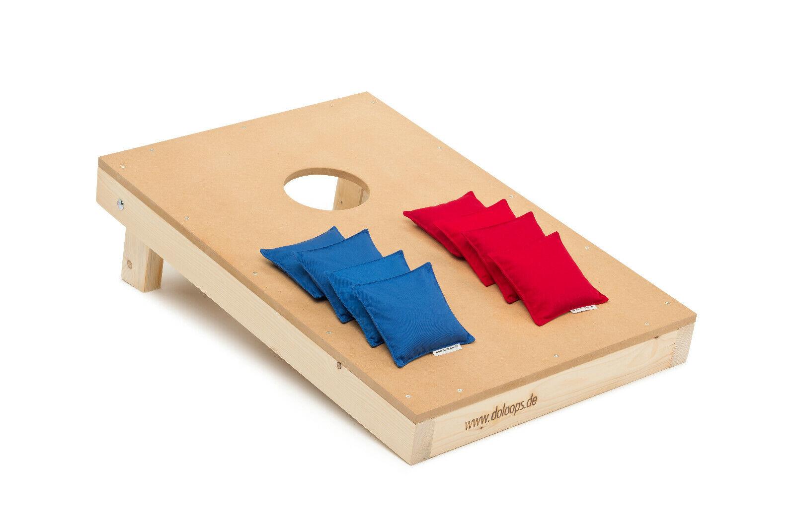 Original Cornhole Set  -  Spielset mit 1 Board + 4 rote und 4 blaue Bags