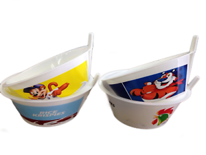 Kids Tip/' N Sip/' Cereal Bowls With Built In Straw 2 Pack