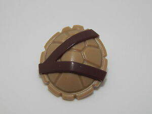 Lego Dark Tan Minifig Turtle Shell with Dark Brown Horizontal and Diagonal A#15