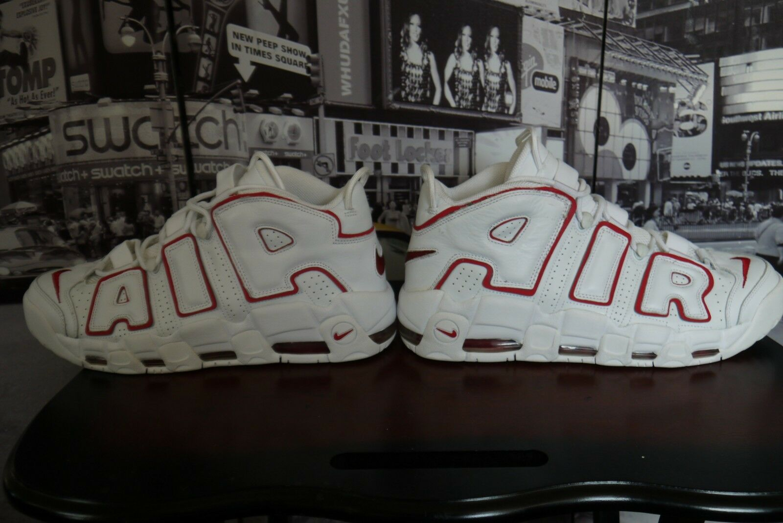 2006 NIKE AIR MORE MORE MORE UPTEMPO White Varsity Red Scottie Pippen US 12  312971 161 063198