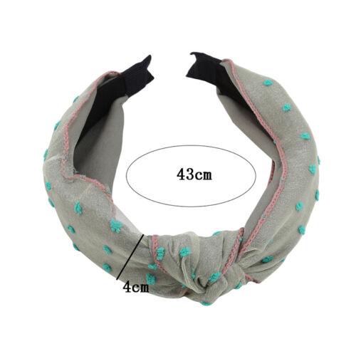 Women Headband Twist Hairband Bow Knot Bross Tie Velvet Cloth Headwrap Hair Hoop
