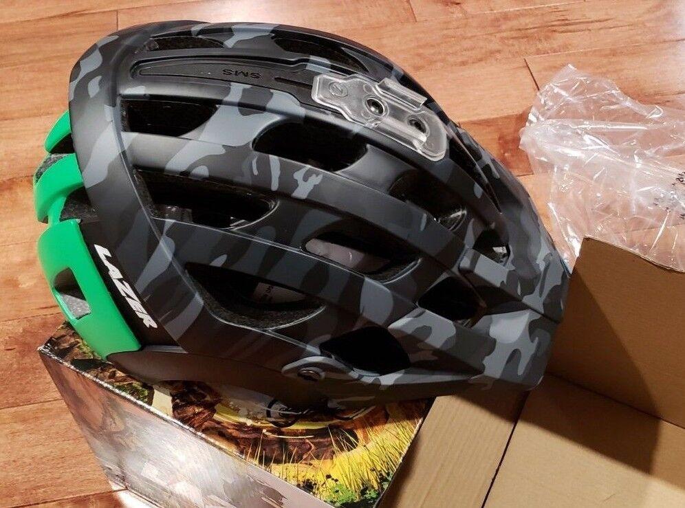 Nueva revolución Lazer Deportes Casco de Bicicleta Negro Mate verde Camuflaje Flash SM Enduro