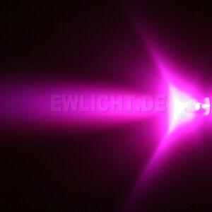 10 LEDs 5mm Pinke 3000 mcd Pink LED Rose inkl Widerstände für zB 6V 9V 12V 14V