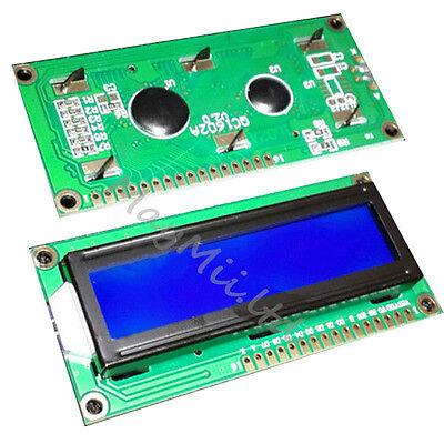 New blue blacklight 1602 16x2 HD44780 Character LCD Display Module LCM GOOD