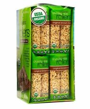 Bamboo Lane Crunchy Rice Rollers – Organic Brown 0.9 oz 16 Packs of 2 Cakes Food