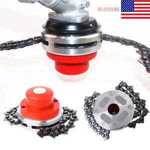 65Mn-Trimmer-Head-Coil-Chain-Brush-Cutter-Garden-Grass-Trimmer-Fit-Lawn-Mower-US