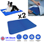 thumbnail 1 - 2x Pet Self Cooling Gel Mat Cool Mat For Dogs Cats Pad Bed Mattress Heat Relief