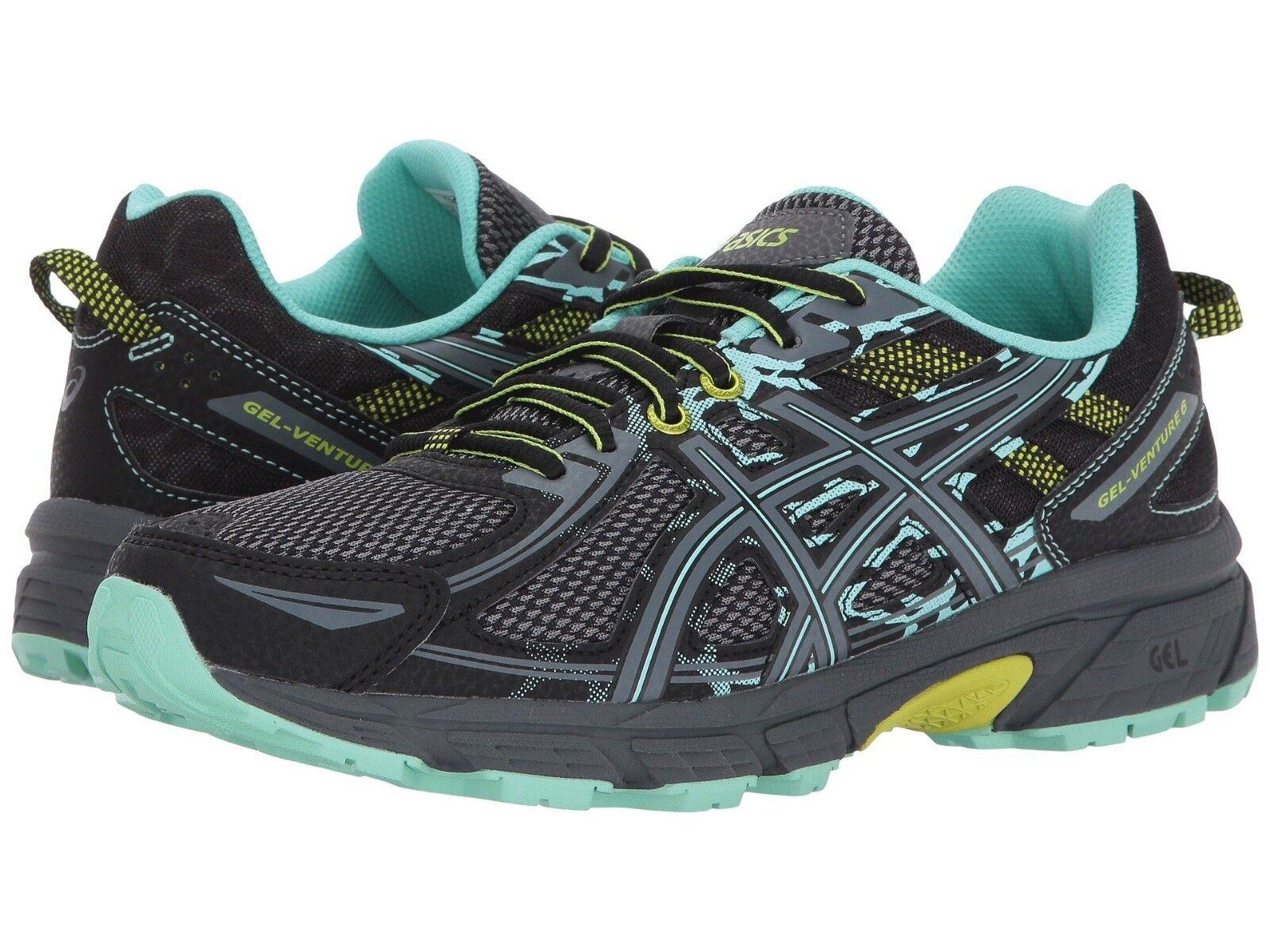 Nuevo en caja para Mujeres Asics Gel-Venture ® 6 Trail Running Zapatos B & D Ancho BK Cal 412 510