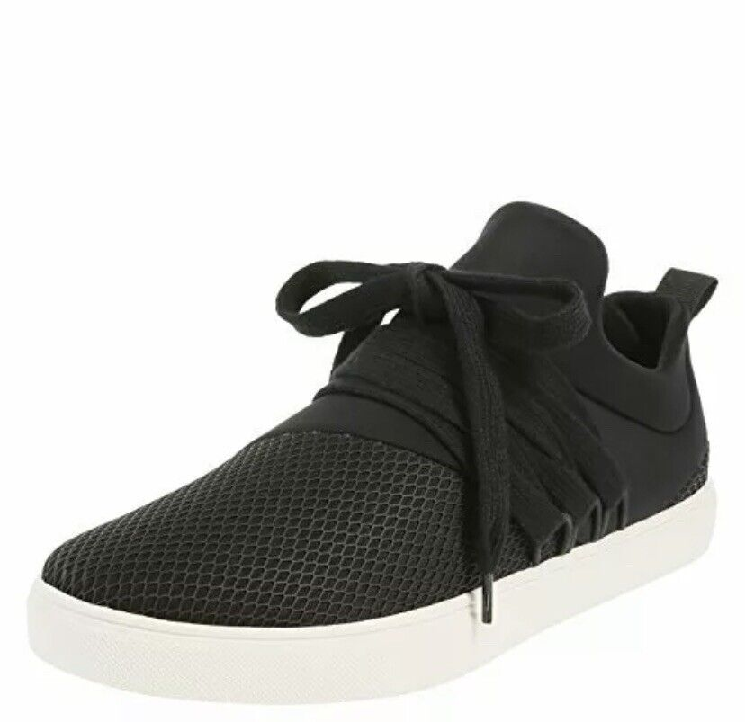 Brash Drea Black Fabric Low Top Lace Up Fashion Neoprene Shoes Sneakers Size 11