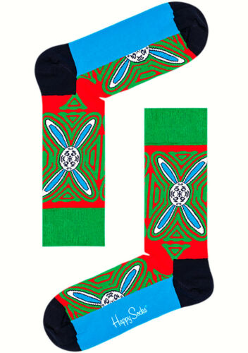 NEW HAPPY SOCKS X Macaulay Culkin Christams Psychedelic Rabbit Sock