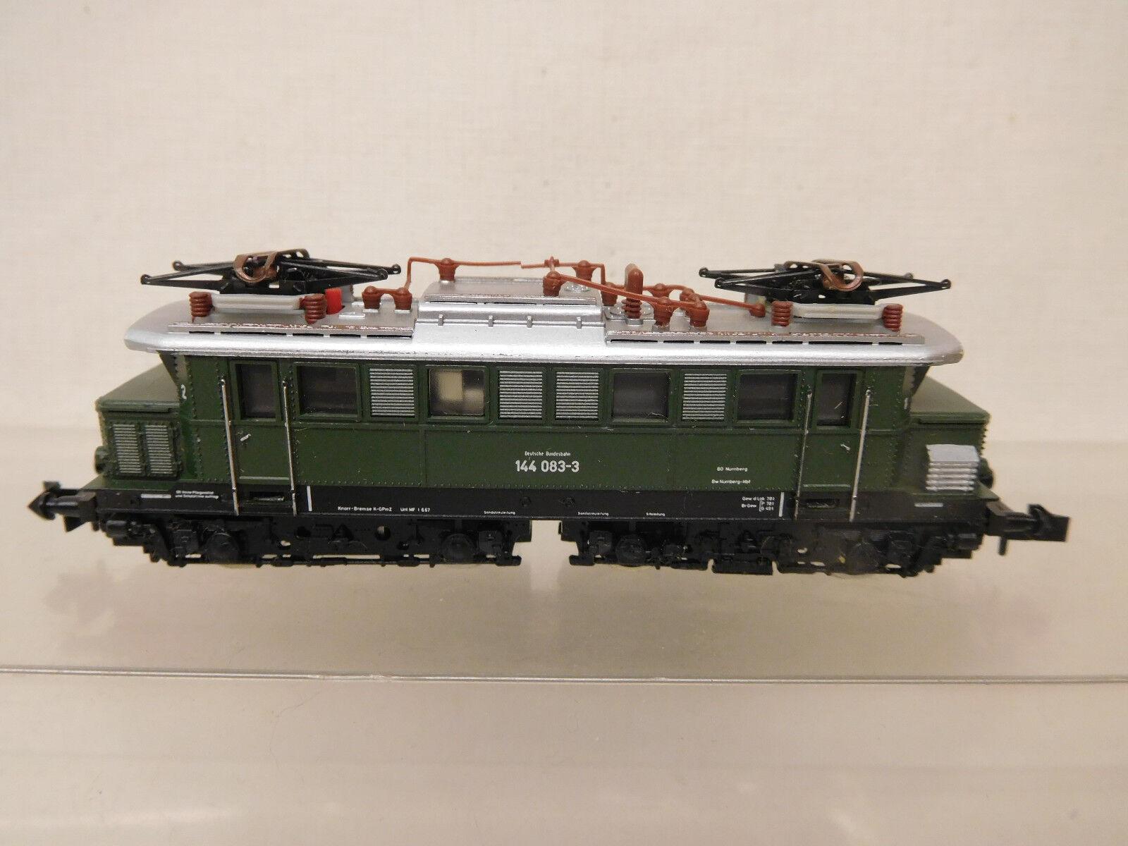 Mes-59444 Minitrix Spur N E-Lok DB 144 083-3 ottime condizioni, esaminato funzione