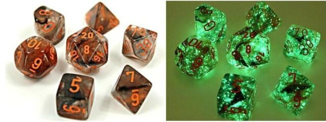 Nebula® Polyhedral Copper Matrix/orange Luminary 7-Die Set