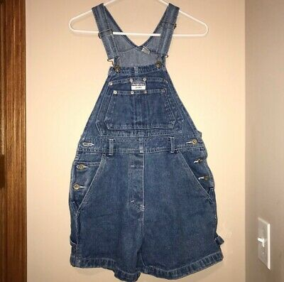 No Excuses Vintage 1990s plaid shorts overalls size S Small