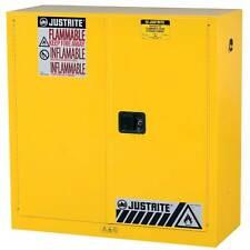 Ordinaire 30 Gallon Sure Grip EX Flammable Storage Cabinet, Manual Close, Justrite  893000