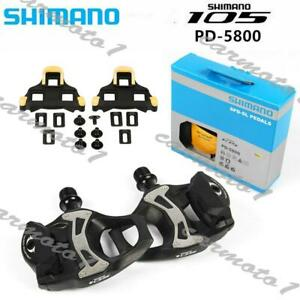 Shimano-105-PD-5800-SPD-SL-Carbon-Road-Bicycle-Bike-Pedals-Clipless-9-16-034-CMT