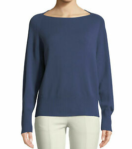 2ebc1827ac  295 NWT Vince Wool  Cashmere Boat-Neck Blue Sweater sz M V063077308 ...