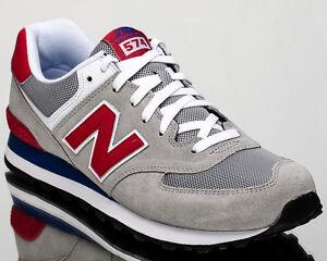 new balance 574 gris y rojo