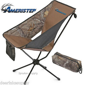 Ameristep Tellus Lite Hunting Camping Camo Chair Portable