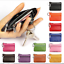 Women-Leather-Double-Zipper-Change-Wallet-Bus-Card-Coin-Purse-With-Key-Clip-q thumbnail 6